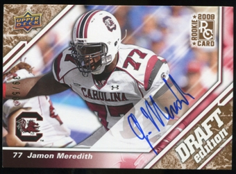 2009 Upper Deck Draft Edition Autographs Copper #110 Jamon Meredith Autograph /50