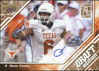 2009 Upper Deck Draft Edition Autographs Copper #120 Quan Cosby Autograph 6/50