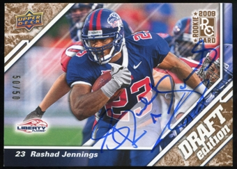 2009 Upper Deck Draft Edition Autographs Copper #127 Rashad Jennings Autograph /50