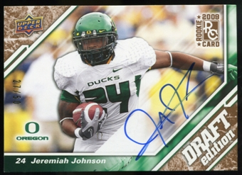 2009 Upper Deck Draft Edition Autographs Copper #128 Jeremiah Johnson Autograph /50