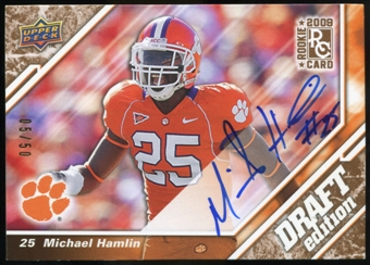 2009 Upper Deck Draft Edition Autographs Copper #129 Michael Hamlin Autograph /50
