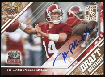2009 Upper Deck Draft Edition Autographs Copper #141 John Parker Wilson Autograph /50