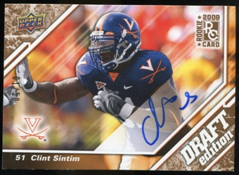 2009 Upper Deck Draft Edition Autographs Copper #145 Clint Sintim Autograph /50