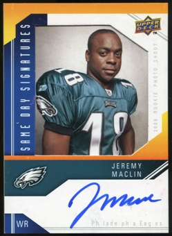 2009 Upper Deck Same Day Signatures #SDJM Jeremy Maclin Autograph