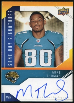 2009 Upper Deck Same Day Signatures #SDMT Mike Thomas Autograph