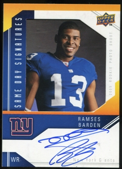 2009 Upper Deck Same Day Signatures #SDBA Ramses Barden Autograph