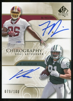 2008 Upper Deck SP Authentic Chirography Duals #DK Fred Davis/Dustin Keller Autograph /100
