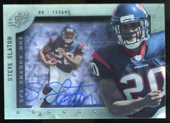 2009 Upper Deck SPx Shadow Box Autographs #SSS Steve Slaton Autograph