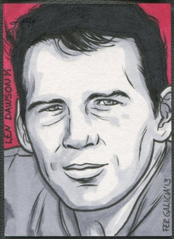 2013 Leaf Best of Football #21 Len Dawson Sketch #1/1