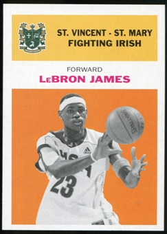 2011/12 Upper Deck Fleer Retro 1961-62 #LJ3 LeBron James Orange
