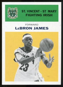 2011/12 Upper Deck Fleer Retro 1961-62 #LJ5 LeBron James Yellow