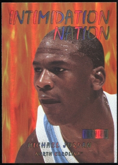 2011/12 Upper Deck Fleer Retro Intimidation Nation #12 Michael Jordan