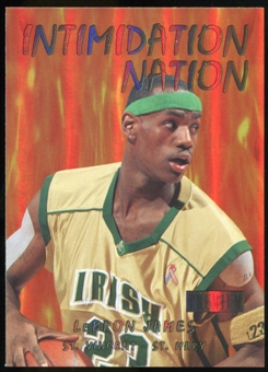 2011/12 Upper Deck Fleer Retro Intimidation Nation #20 LeBron James