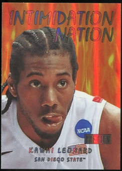 2011/12 Upper Deck Fleer Retro Intimidation Nation #34 Kawhi Leonard