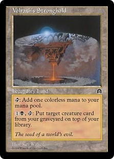 Magic the Gathering Stronghold Single Volrath's Stronghold - SLIGHT PLAY (SP)