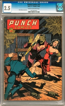 Punch Comics #15 CGC 2.5 (C-OW) *1211321013*