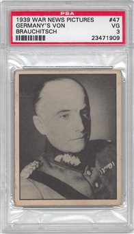 1939 Gum Inc. War News Pictures #47 Germany's Von Brauchitsch PSA 3 (VG) *1909