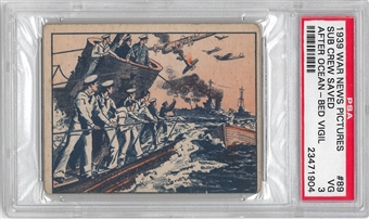 1939 Gum Inc. War News Pictures #89 Sub Crew Saved PSA 3 (VG) *1904