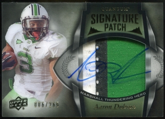 2013 Upper Deck Quantum Signature Patches #133 Aaron Dobson Autograph /265