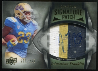 2013 Upper Deck Quantum Signature Patches #138 Johnathan Franklin Autograph /265