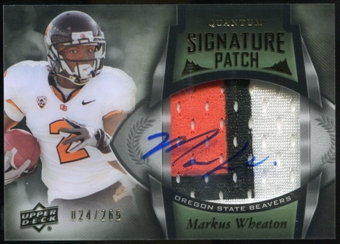 2013 Upper Deck Quantum Signature Patches #148 Markus Wheaton Autograph /265