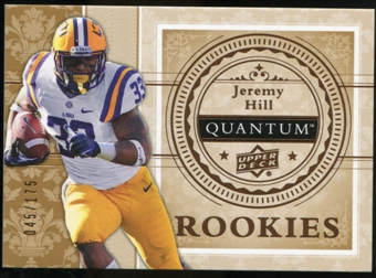 2013 Upper Deck Quantum '14 Draft Picks #XRC17 Jeremy Hill /175