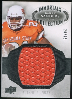 2013 Upper Deck Quantum Jersey Collection #LCBS Barry Sanders /75