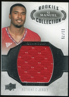 2013 Upper Deck Quantum Jersey Collection #RCEM EJ Manuel /75