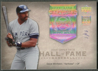 2005 Upper Deck Hall of Fame #DW1 Dave Winfield Seasons Rainbow #1/1