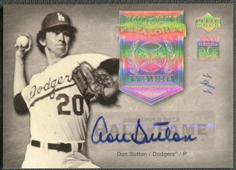 2005 Upper Deck Hall of Fame #DS1 Don Sutton Seasons Rainbow Auto #1/1