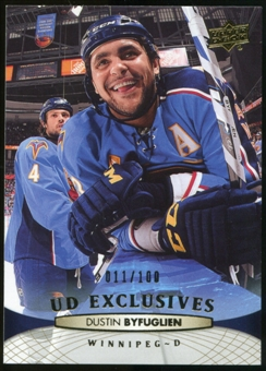 2011/12 Upper Deck Exclusives #1 Dustin Byfuglien /100