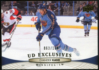 2011/12 Upper Deck Exclusives #4 Evander Kane /100
