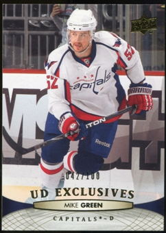 2011/12 Upper Deck Exclusives #10 Mike Green /100