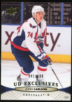 2011/12 Upper Deck Exclusives #12 John Carlson /100