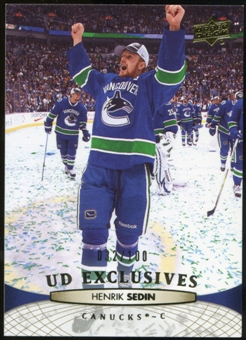 2011/12 Upper Deck Exclusives #13 Henrik Sedin /100