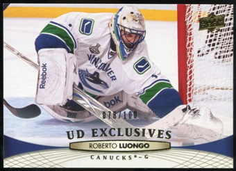 2011/12 Upper Deck Exclusives #15 Roberto Luongo /100