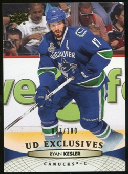 2011/12 Upper Deck Exclusives #16 Ryan Kesler /100