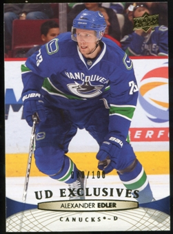 2011/12 Upper Deck Exclusives #17 Alexander Edler /100