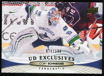 2011/12 Upper Deck Exclusives #18 Cory Schneider /100