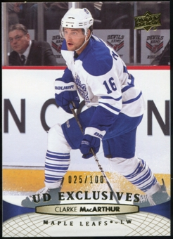 2011/12 Upper Deck Exclusives #23 Clarke MacArthur /100