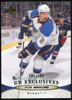 2011/12 Upper Deck Exclusives #34 Patrik Berglund /100