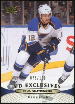 2011/12 Upper Deck Exclusives #35 Kevin Shattenkirk /100