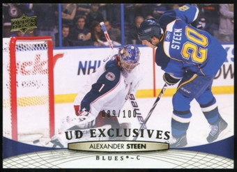 2011/12 Upper Deck Exclusives #37 Alexander Steen /100
