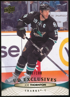 2011/12 Upper Deck Exclusives #39 Joe Thornton /100