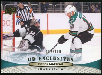 2011/12 Upper Deck Exclusives #40 Patrick Marleau /100