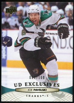 2011/12 Upper Deck Exclusives #41 Joe Pavelski /100
