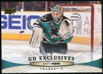 2011/12 Upper Deck Exclusives #42 Antti Niemi /100