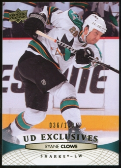 2011/12 Upper Deck Exclusives #45 Ryane Clowe /100