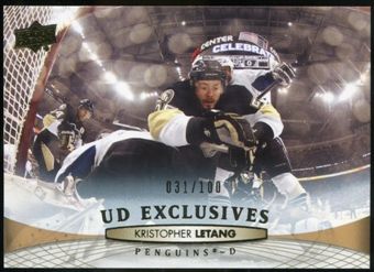 2011/12 Upper Deck Exclusives #48 Kristopher Letang /100