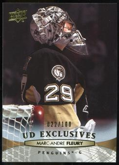 2011/12 Upper Deck Exclusives #50 Marc-Andre Fleury /100
